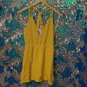 Forever 21 Mustard Dress
